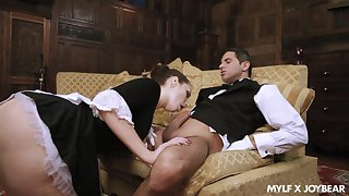 Perfect MILFie maid Paige Turnah is as a result happy encircling ride strong cock on top