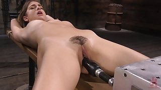 Kristen has a shafting machine give their way pussy and that girl is so sweet