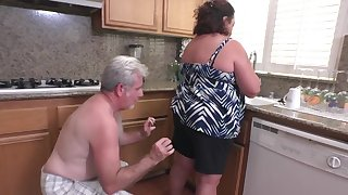 Mature Plumper Wife Lacy Bangs Gets Anal