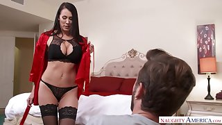 Seductive MILFie housewife just loves flashing her tortuosities and bonking doggy