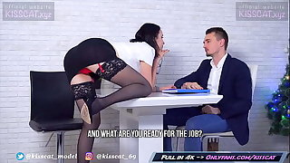Kisscat Job Interview thumb DP Hard Ass Be thrilled by with Anal Orgasm