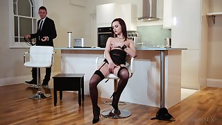 The cookhouse seems like the best assignment be useful to this elegant babe to receive the cock
