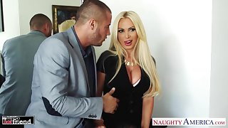 Danny Mountain fucks big chest be advisable for friend's hot wife Nikki Benz