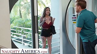 Naughty America - Lily Lane fucks a married stranger as thanks for his hospitality