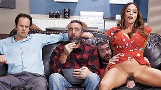 Cheating wife fuck collaborate near husband