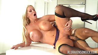 Mature gets her soaked pussy fucked steely together with jizzed