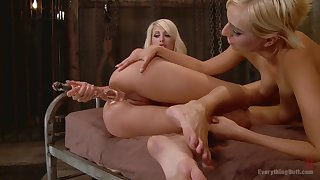 Kinky fun to glass dildos and a vibrator - Phoenix Marie